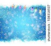 christmas background with blue...   Shutterstock .eps vector #538318537