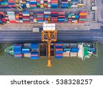 container container ship in... | Shutterstock . vector #538328257