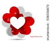 heart for valentine's day... | Shutterstock .eps vector #538336873