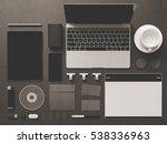 branding stationery mockup...   Shutterstock . vector #538336963