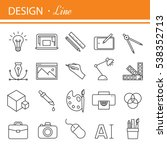 graphic design icons  vector... | Shutterstock .eps vector #538352713