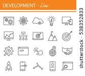 seo and development icon set.... | Shutterstock .eps vector #538352833