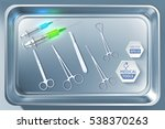 medical tools background with... | Shutterstock .eps vector #538370263