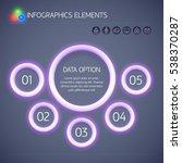digital business infographic... | Shutterstock .eps vector #538370287