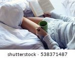 young woman reading a book in... | Shutterstock . vector #538371487