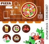 flat layout design for website... | Shutterstock .eps vector #538382887