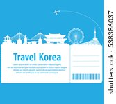 travel to south korea.  south...   Shutterstock .eps vector #538386037