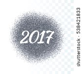 2017 new year icon. vector... | Shutterstock .eps vector #538421833