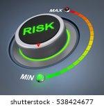 risk button position 3d... | Shutterstock . vector #538424677
