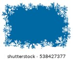 snowflakes  blue grunge... | Shutterstock .eps vector #538427377