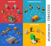 recycling isometric concept.... | Shutterstock . vector #538433203