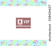 vip badge vector icon on white...