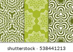 set of abstract decorative... | Shutterstock .eps vector #538441213