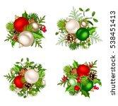set of four vector christmas... | Shutterstock .eps vector #538451413