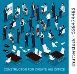 business people isometric kit... | Shutterstock .eps vector #538474483