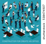 business people isometric kit... | Shutterstock .eps vector #538474507