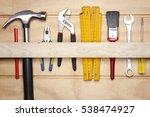 assorted work tools on wood | Shutterstock . vector #538474927