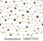 Stock vector holiday background seamless pattern with stars vector illustration 538477357