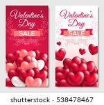 valentines day sale vertical... | Shutterstock .eps vector #538478467