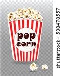 popcorn bucket | Shutterstock .eps vector #538478557