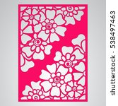 die cut card. laser cut vector... | Shutterstock .eps vector #538497463