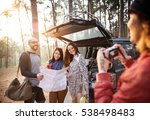 friends taking photos trip... | Shutterstock . vector #538498483