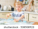 little blond kid plays with... | Shutterstock . vector #538508923