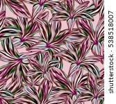 seamless background. lilies....   Shutterstock . vector #538518007