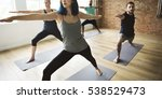 yoga practice exercise class... | Shutterstock . vector #538529473