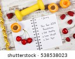 new year resolutions or goals... | Shutterstock . vector #538538023