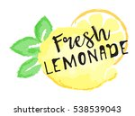 lemon fruit label and sticker   ... | Shutterstock .eps vector #538539043
