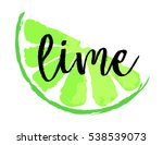 lime fruit label and sticker.... | Shutterstock .eps vector #538539073