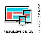 modern flat editable line... | Shutterstock .eps vector #538549363
