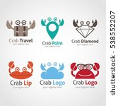 crab logo design template.... | Shutterstock .eps vector #538552207