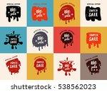 grunge color design big sale... | Shutterstock .eps vector #538562023