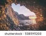 black sea landscape in crimea ... | Shutterstock . vector #538595203