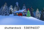 dreamlike winter scene with... | Shutterstock . vector #538596037