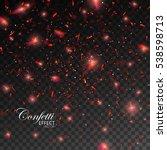 sparkling confetti. vector... | Shutterstock .eps vector #538598713