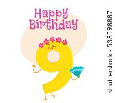 happy birthday vector greeting...   Shutterstock .eps vector #538598887