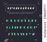 minimalistic thin line retro... | Shutterstock .eps vector #538600777