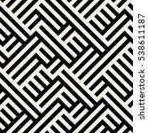 irregular maze line. abstract...   Shutterstock .eps vector #538611187