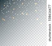 random falling golden... | Shutterstock .eps vector #538616677