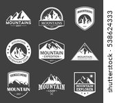 mountain travel  outdoor... | Shutterstock .eps vector #538624333