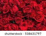 Stock photo colorful flower bouquet from red roses for use as background closeup 538631797