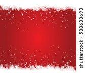 christmas snow frame isolated... | Shutterstock .eps vector #538633693
