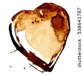 coffee heart isolated on the... | Shutterstock . vector #538641787