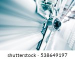 combination lock on a self... | Shutterstock . vector #538649197
