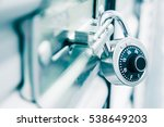 combination lock on a self... | Shutterstock . vector #538649203