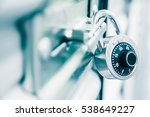 combination lock on a self... | Shutterstock . vector #538649227