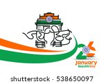 indian republic day concept... | Shutterstock .eps vector #538650097